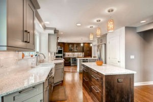Transitional kitchen design in Denver