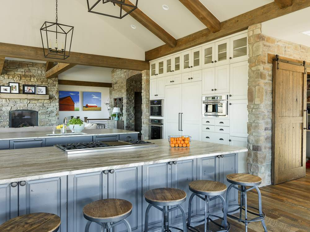 Contemporary kitchen island